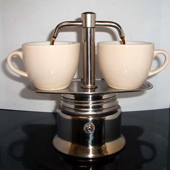 Coffee pot fountain