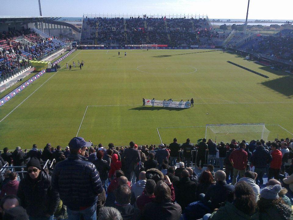 Cagliari FC's pre-match warm up