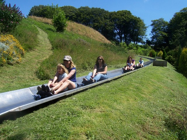 Dartmouth , Woodlands Theme Park, Toboggan Runs - geograph.org.uk - 1217533