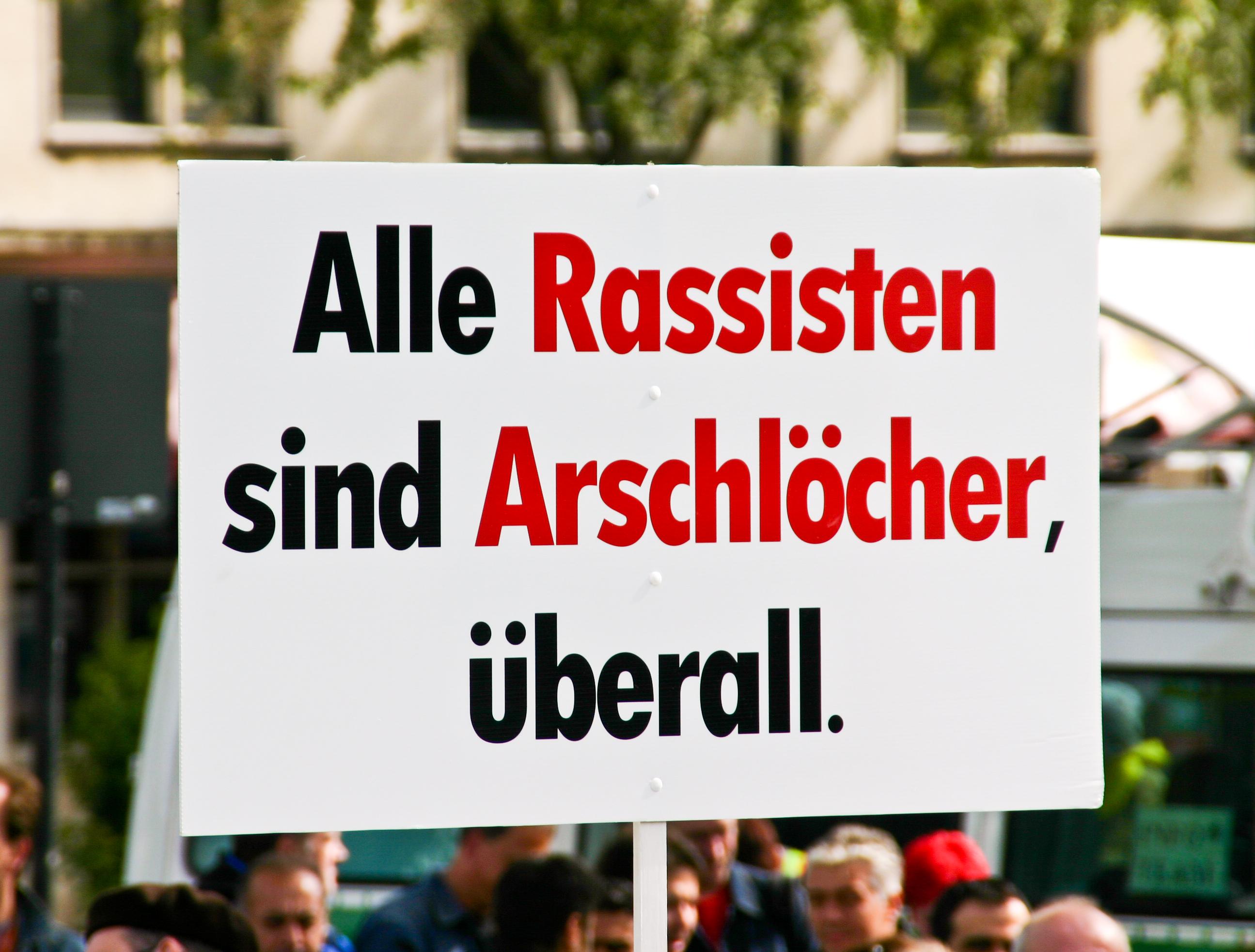 https://upload.wikimedia.org/wikipedia/commons/0/0e/Demo_K%C3%B6ln_stellt_sich_quer_Mai_2009_-_Schild_-Alle_Rassisten_sind_Arschl%C3%B6cher%2C_%C3%BCberall-8448.jpg