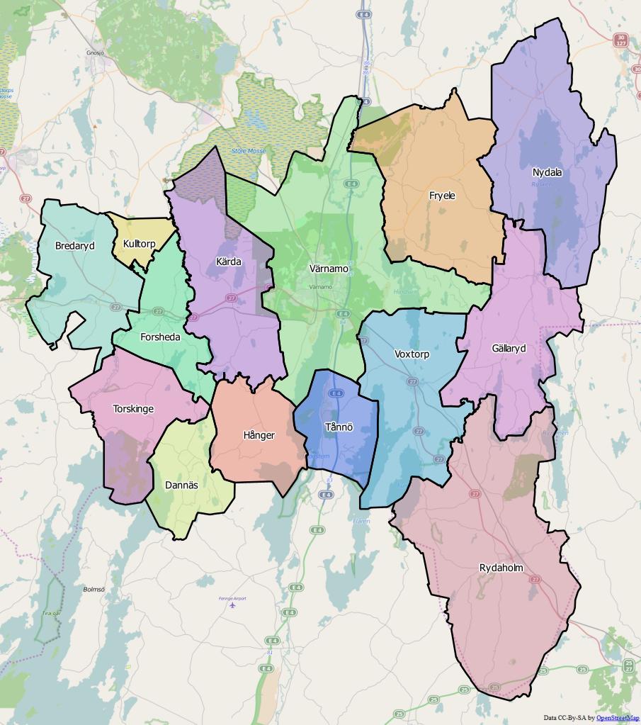 forsheda karta Gällaryds distrikt – Wikipedia forsheda karta