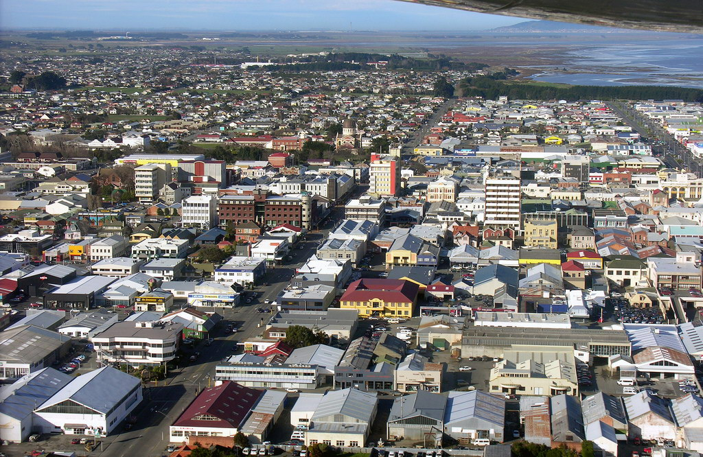 Southland New Zealand  City pictures : Description Downtown Invercargill, Southland, New Zealand