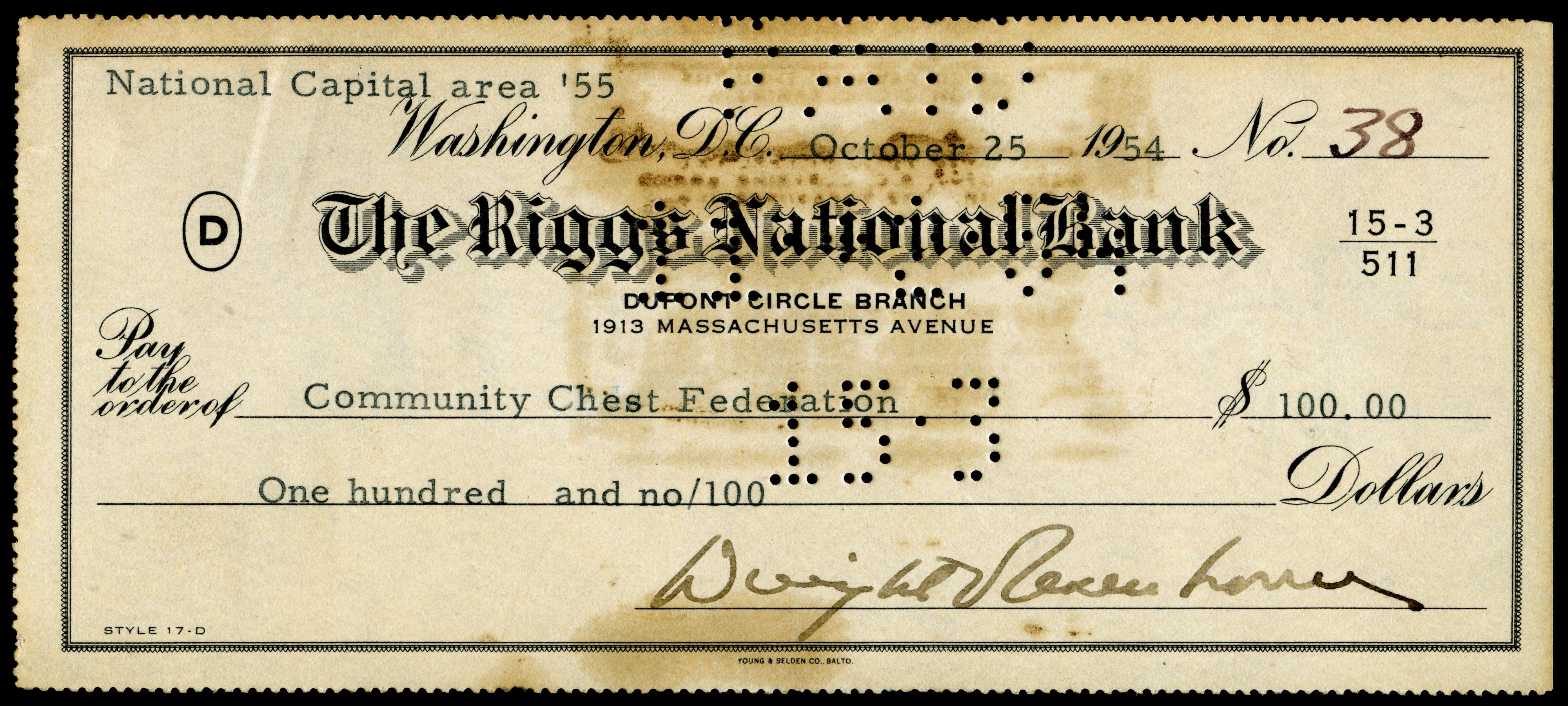 File:EISENHOWER, Dwight (signed check).jpg - Wikimedia Commons
