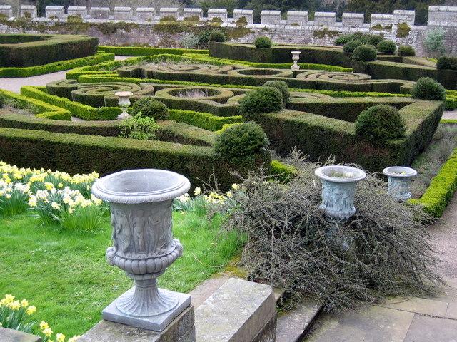 East end of the Italian Garden, Chillingham Castle - geograph.org.uk - 1282766