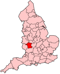 Mappa Worcestershire