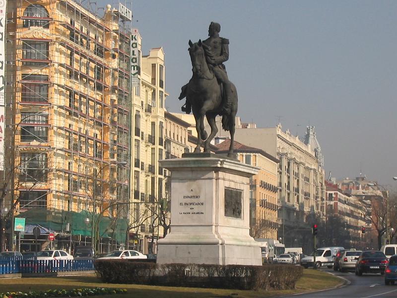 Estatua de espartero madrid wikipedia la enciclopedia - Montadores de pladur en madrid ...