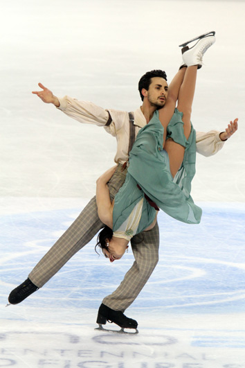 Faiella/Scali during their free dance at the 2010 Worlds