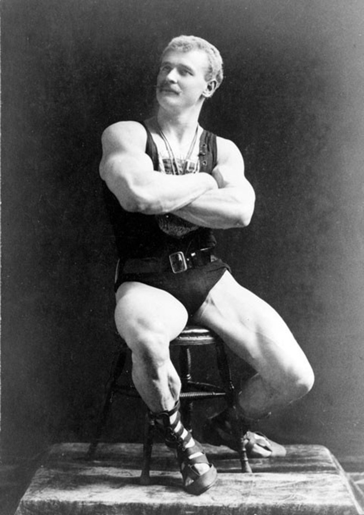 Portrait of strongman Eugen Sandow (1867-1925)