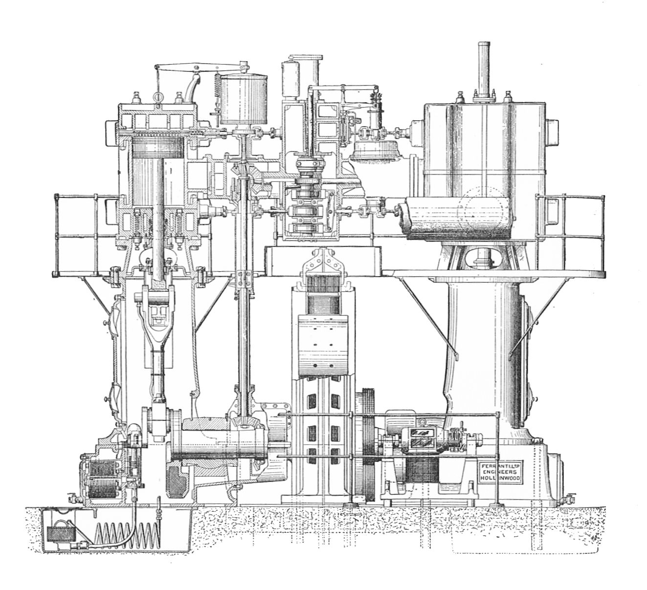 File:Ferranti engine, half section (Rankin Kennedy, Electrical ...