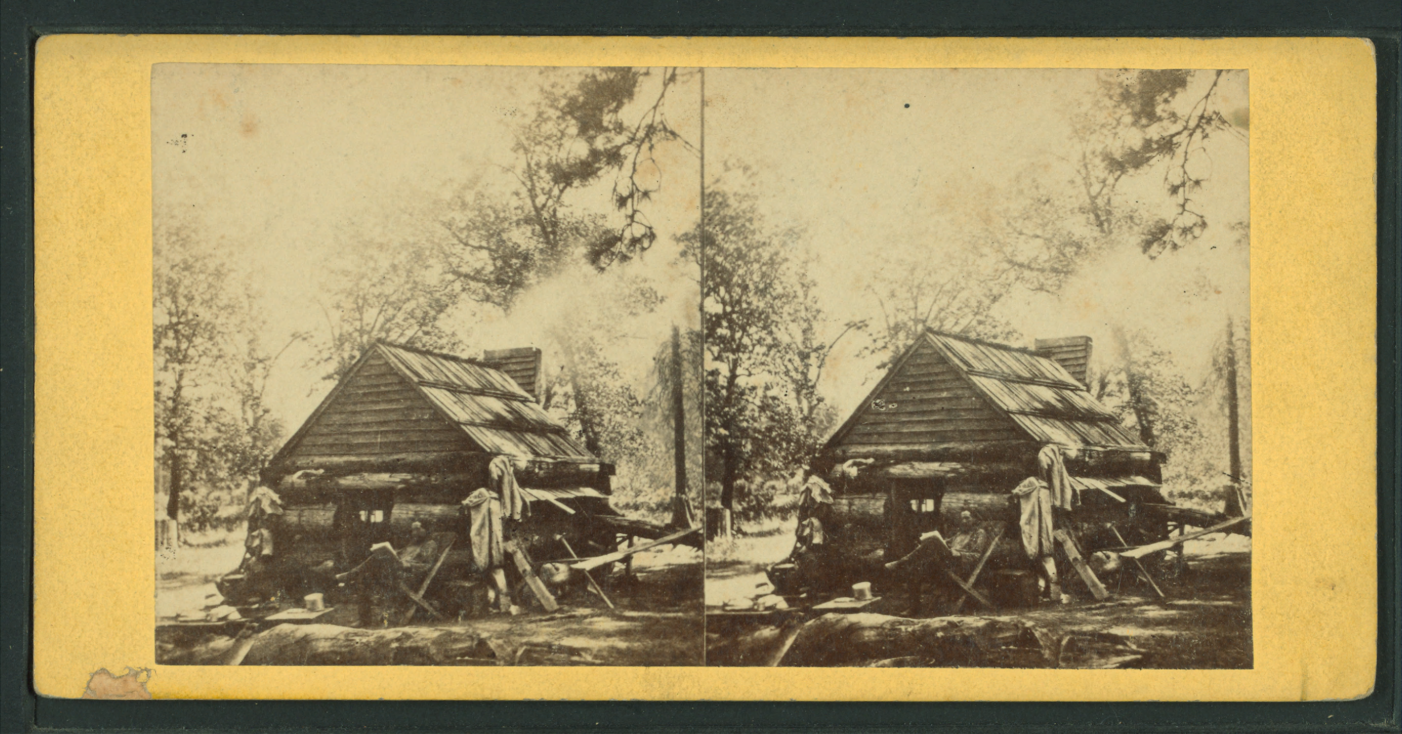 File First Log Cabin Yosemite Valley From Robert N