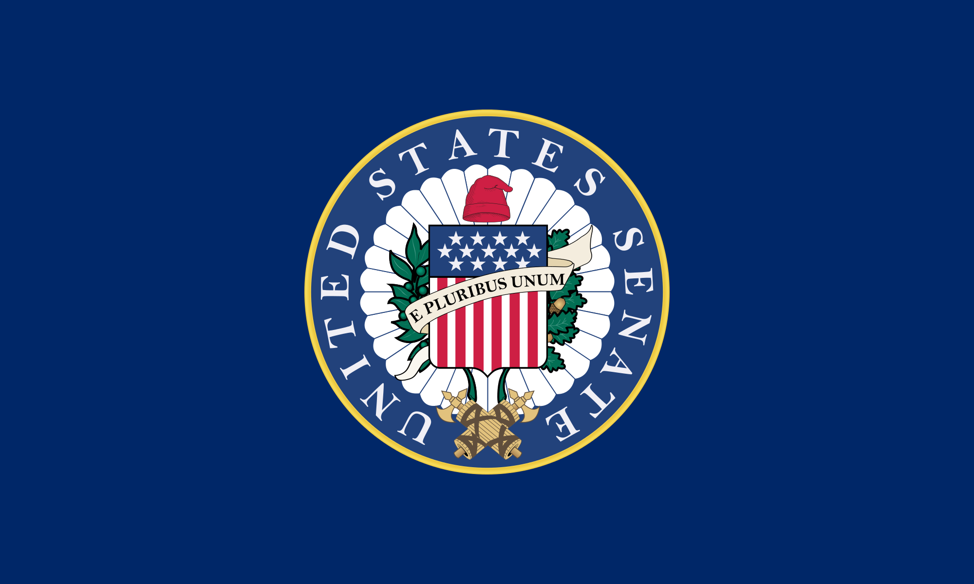 The official flag of the United States Senate.