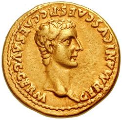 Germanicus op een aureus