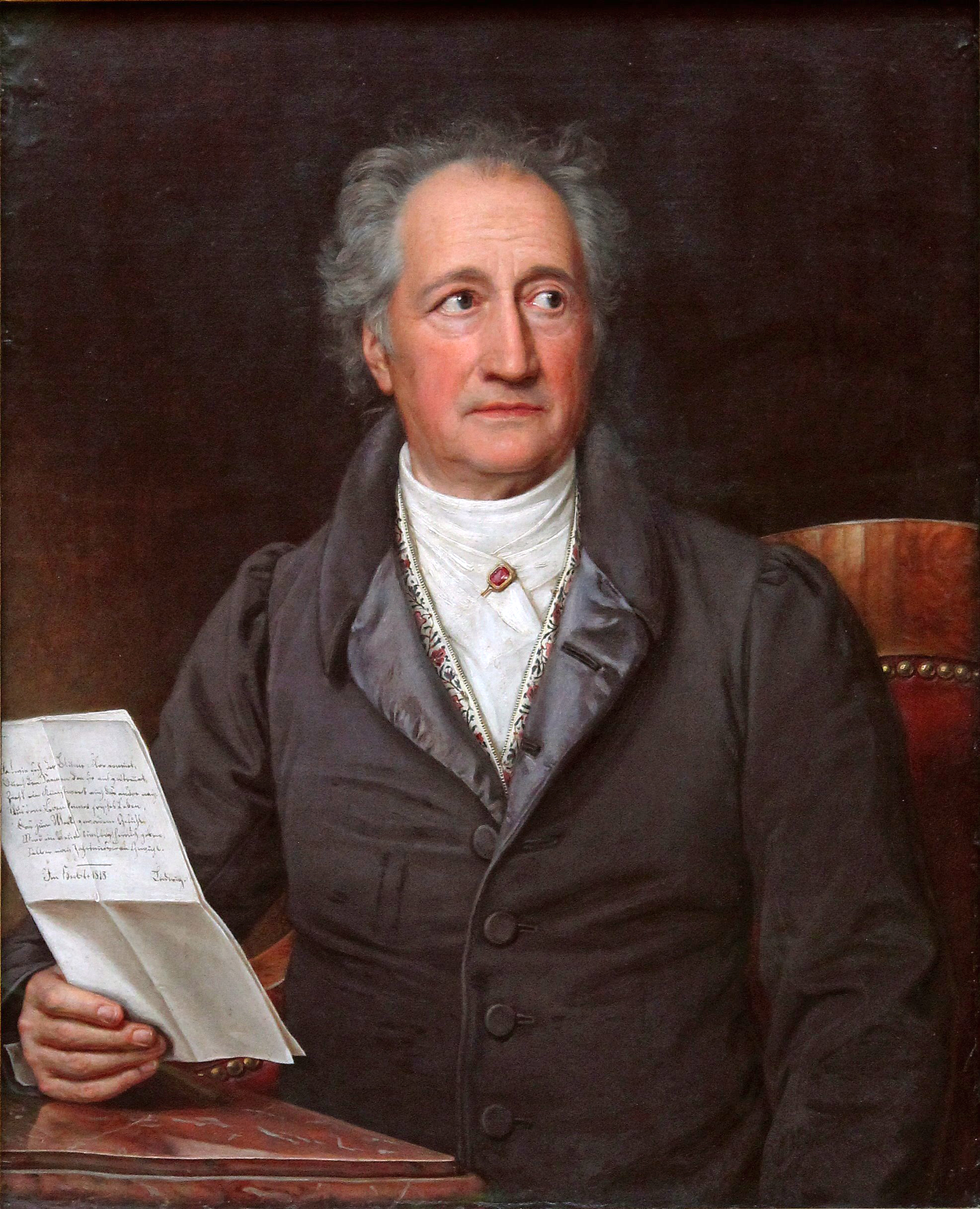 Goethe in 1828, by [[Joseph Karl Stieler]]