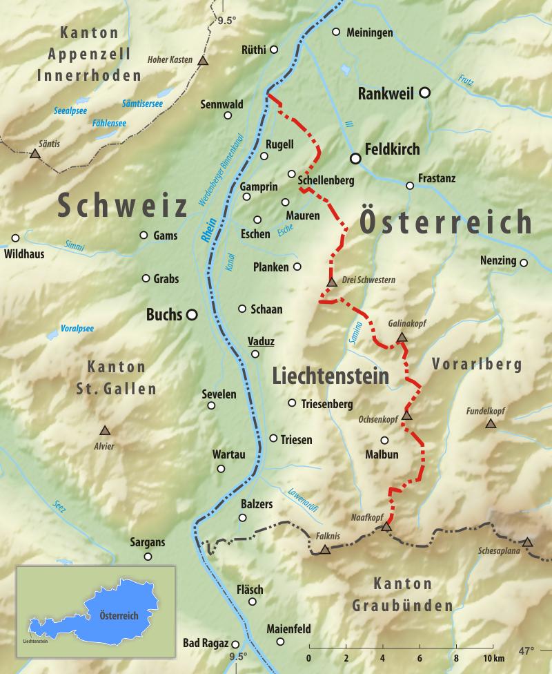Grenze Zwischen Liechtenstein Und Osterreich Wikipedia