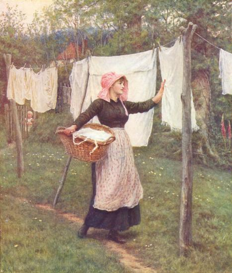 Helen Allingham - Drying Clothes