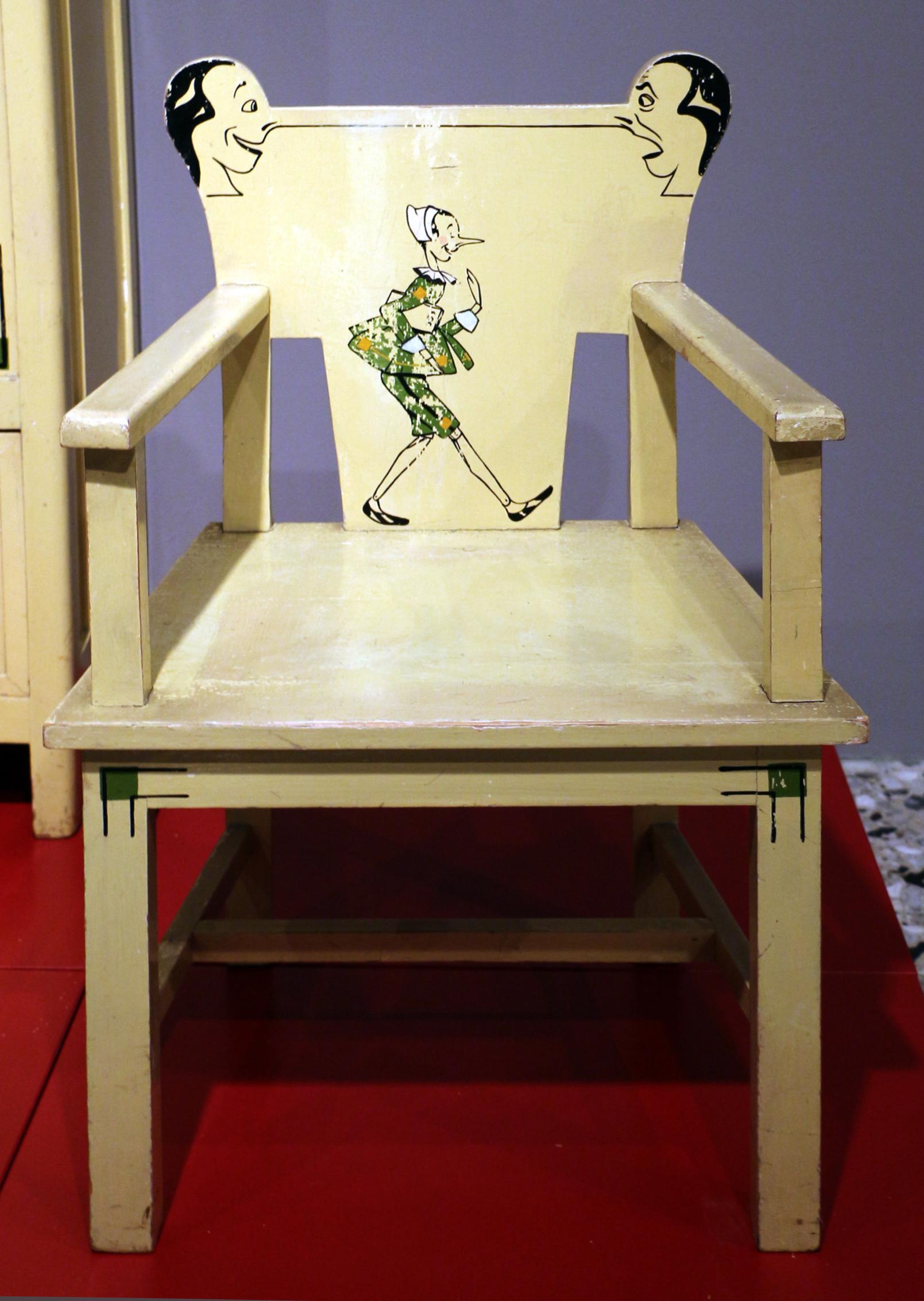 File:Industria veneziana di mobili laccati, cameretta pinocchio ...