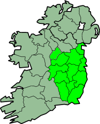 Map of Leinster