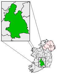 centerMap highlighting Tipperary