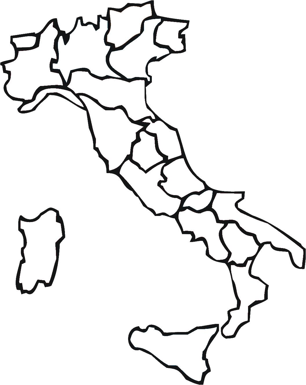 Amato Carta Politica Muta Dell'italia Con Capoluoghi HS11