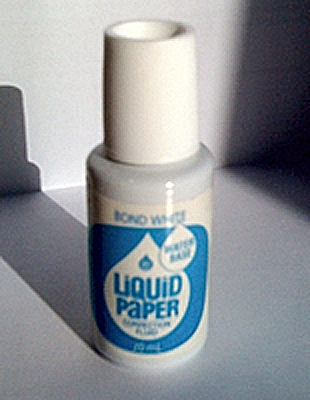 English: A bottle of Liquid Paper correction fluid