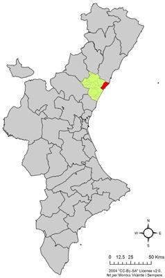 Vị trí của Burriana