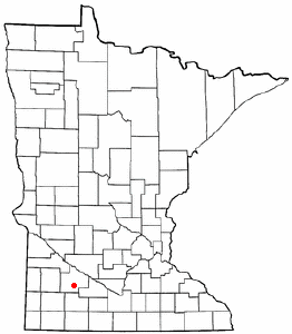 Location of Wanda, Minnesota