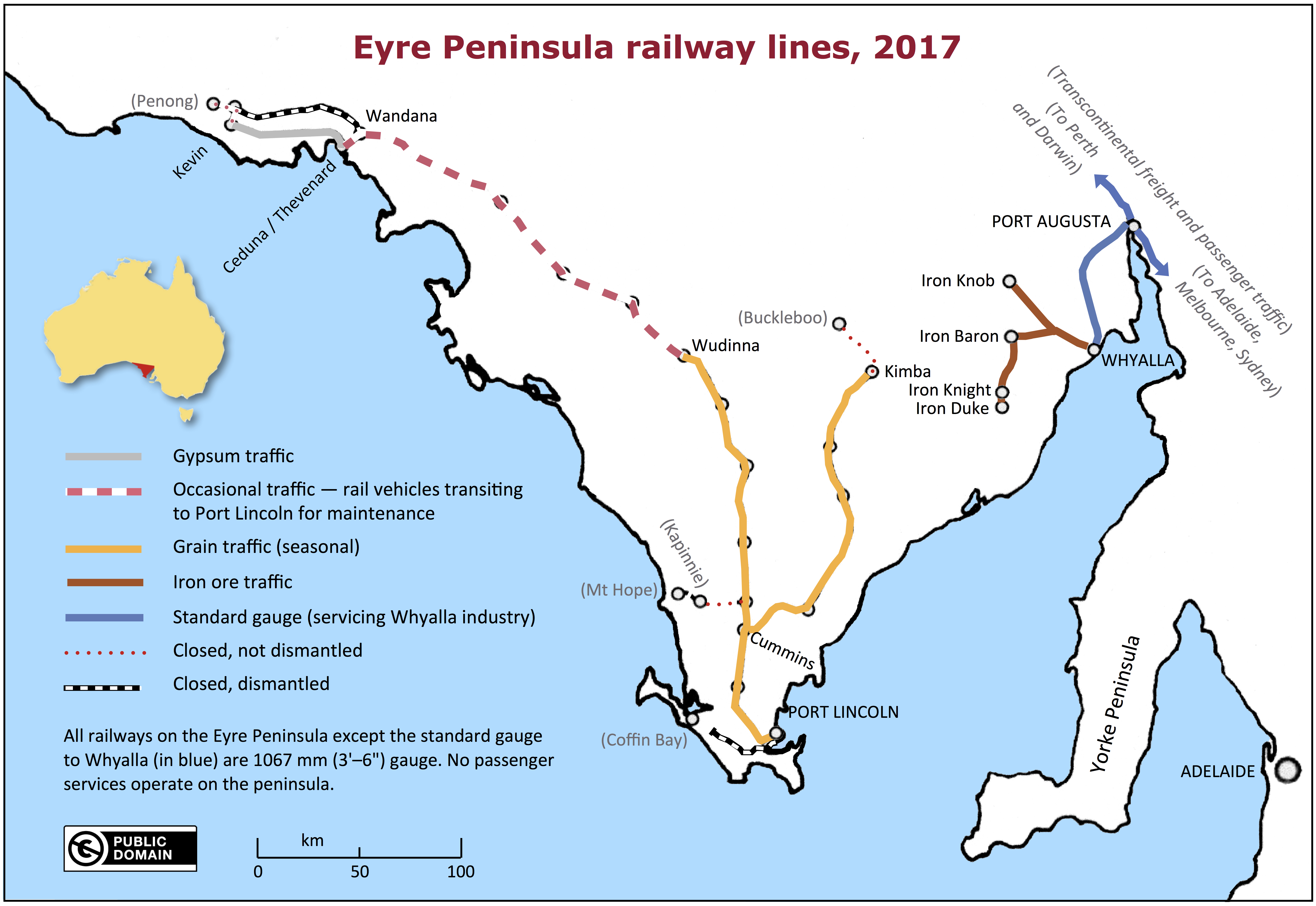 FileMap of Eyre Peninsula railway lines in 2017jpg Wikimedia Commons