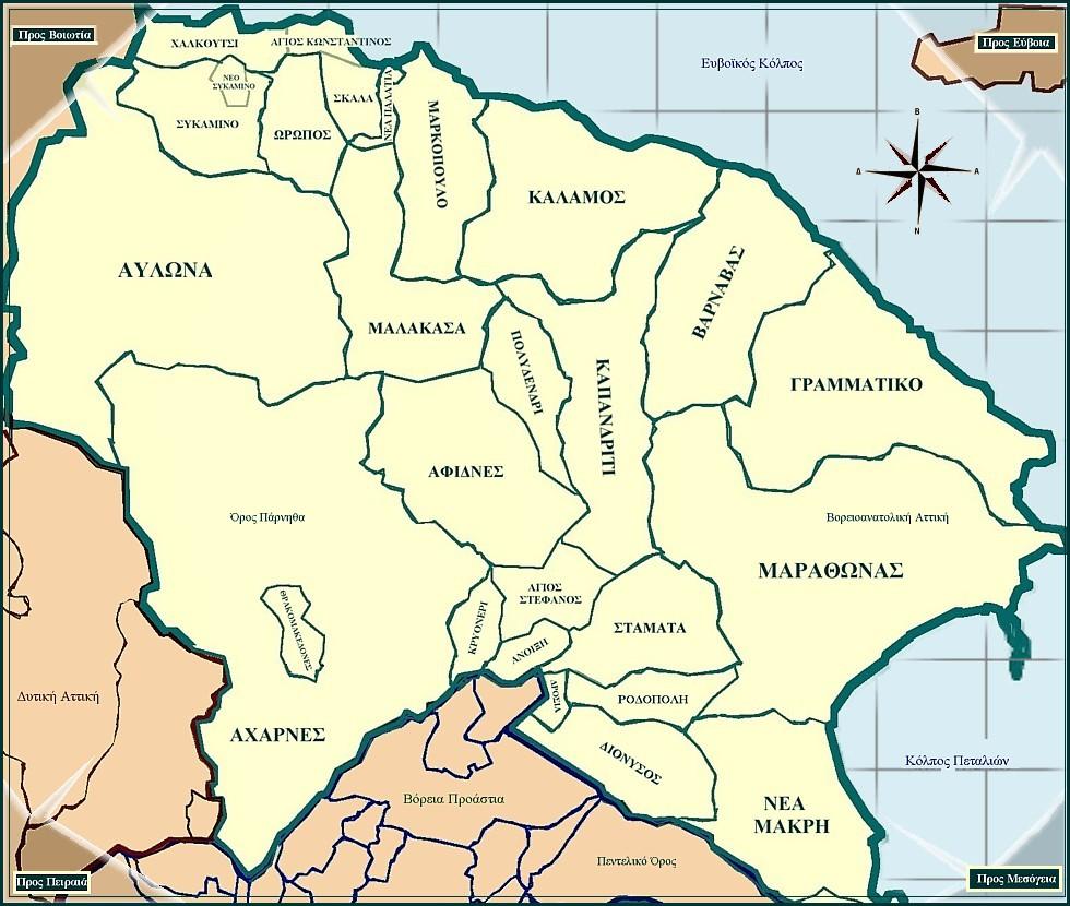 File Map Of Northeastern Attica Jpg Wikimedia Commons