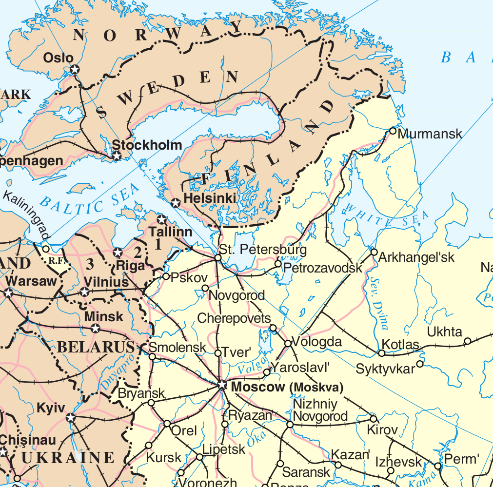 Northwest Russia Wikipedia - Northwestern us map