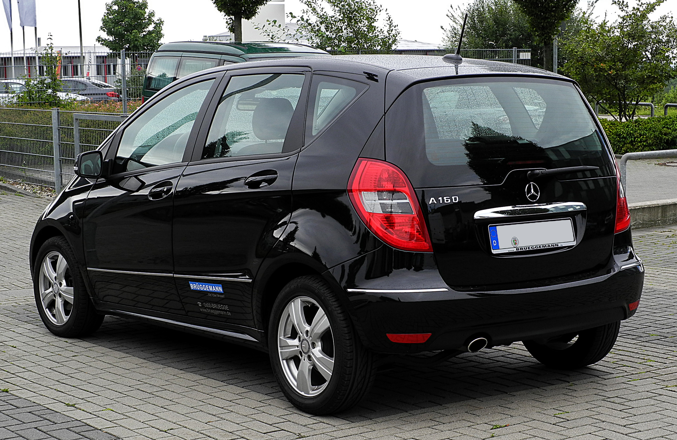 file mercedes benz a 160 avantgarde w 169 facelift heckansicht 23 juli 2011. Black Bedroom Furniture Sets. Home Design Ideas