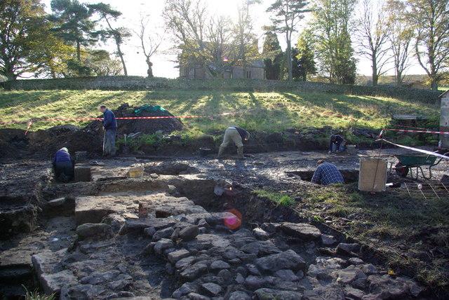Muggleswick Grange archaeological dig - geograph.org.uk - 2150796