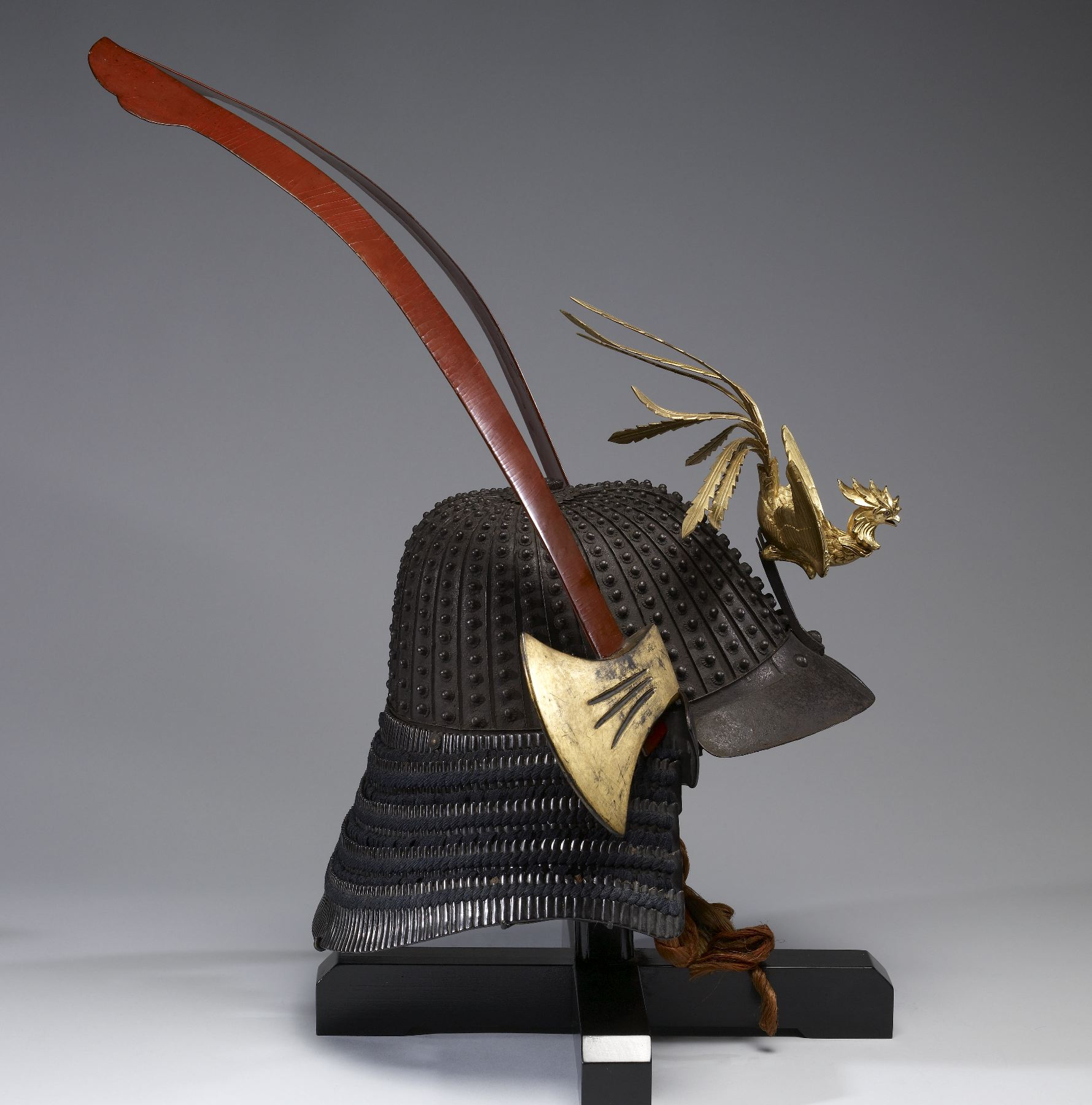 File Myochin Helmet With Phoenix And Battle Axe