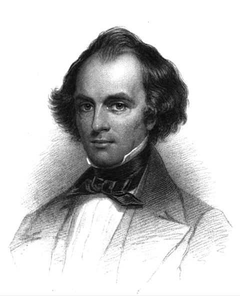 English: Engraving of American author Nathanie...