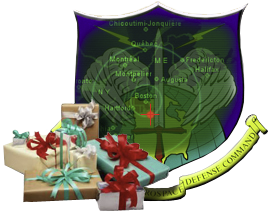 English: NORAD Tracks Santa logo.