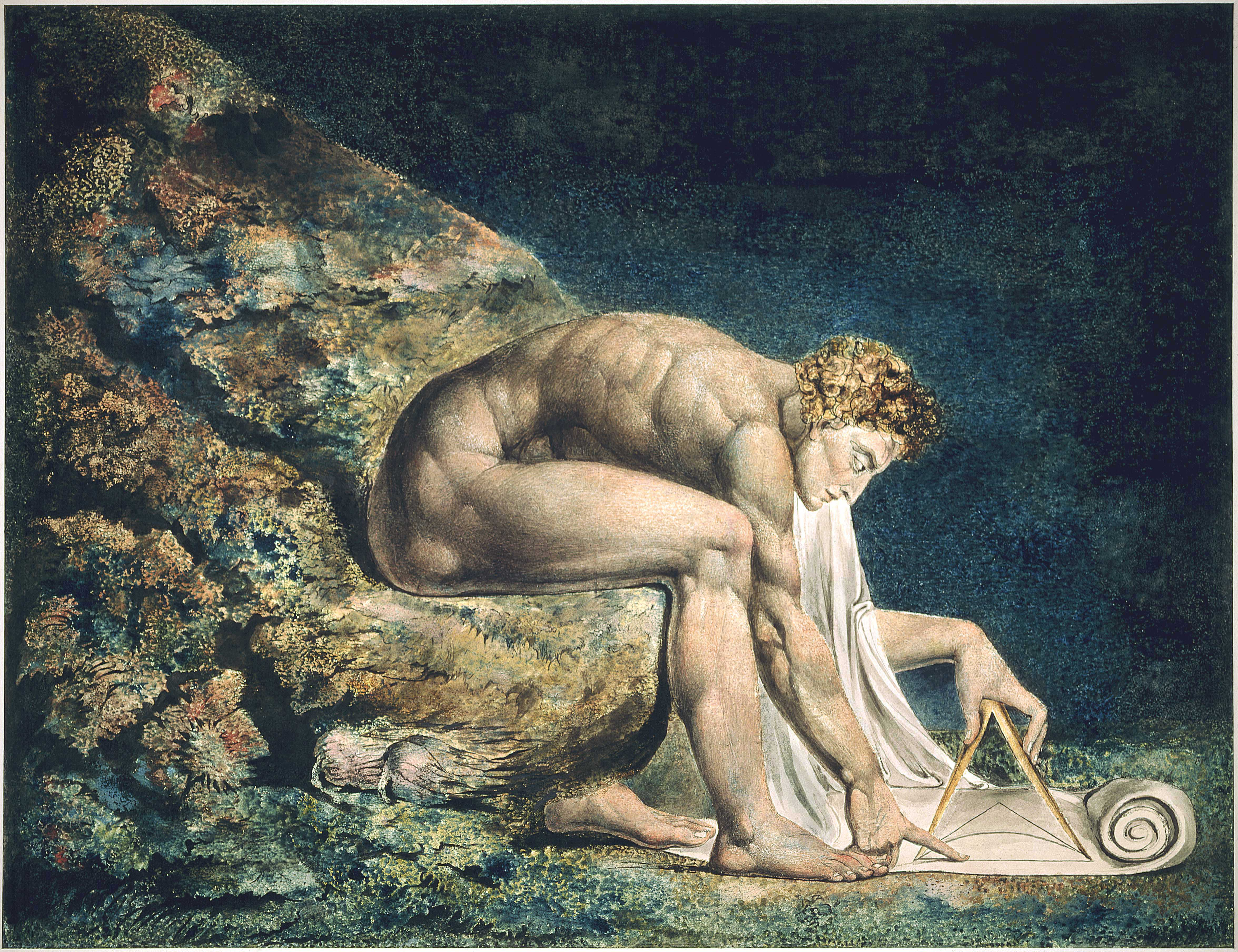 //Newton// by William Blake, 1795. From the Tate Britain Collection.