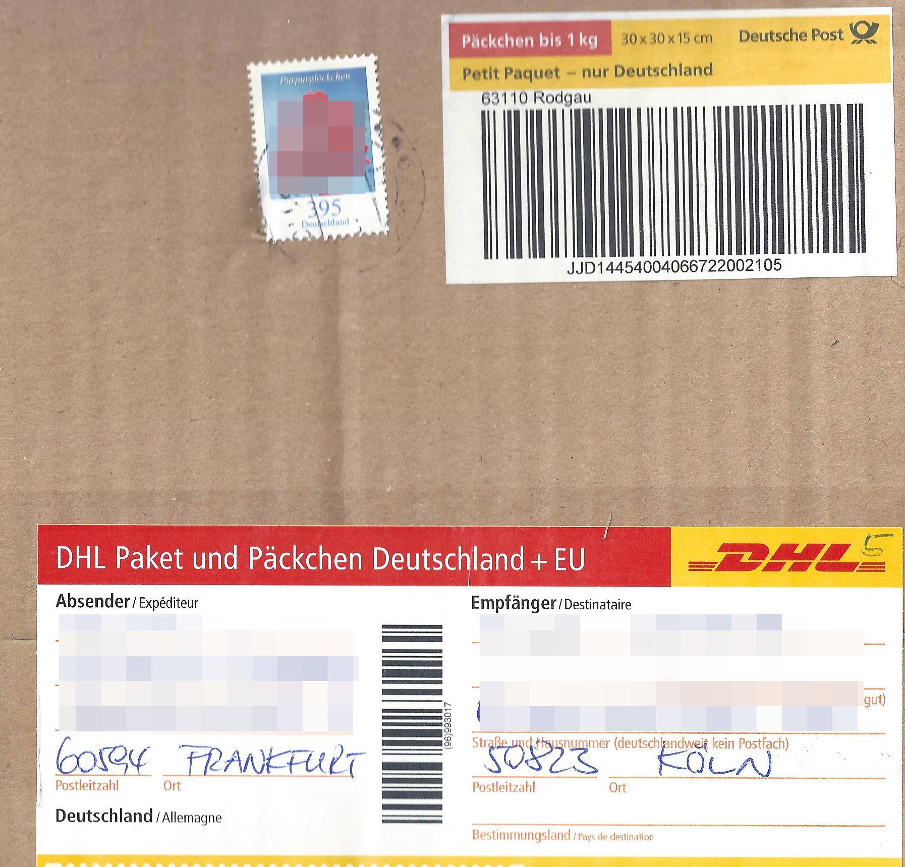 Briefmarken Päckchen
