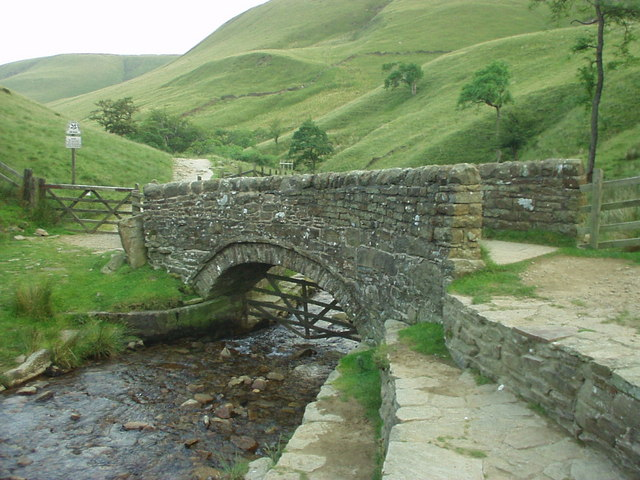 Packhorse bridge below Jacob's Ladder - geograph.org.uk - 267644