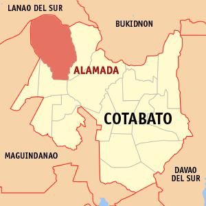 Ph_locator_cotabato_alamada - Alamada Falls in North Cotabato - Philippine Photo Gallery
