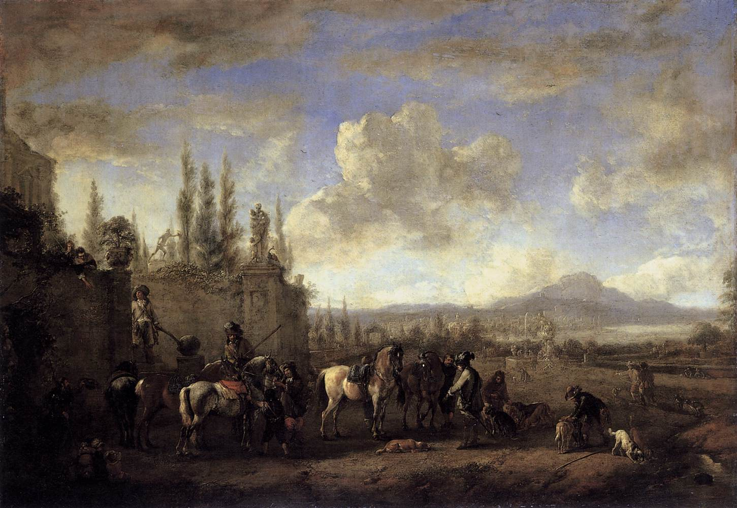 file philips wouwerman setting out on the hunt