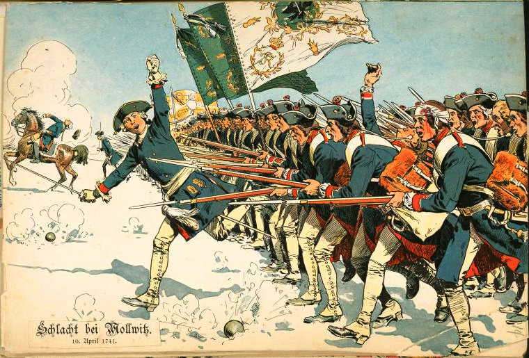 Prussian Army during battle of Mollwitz 1741.jpg