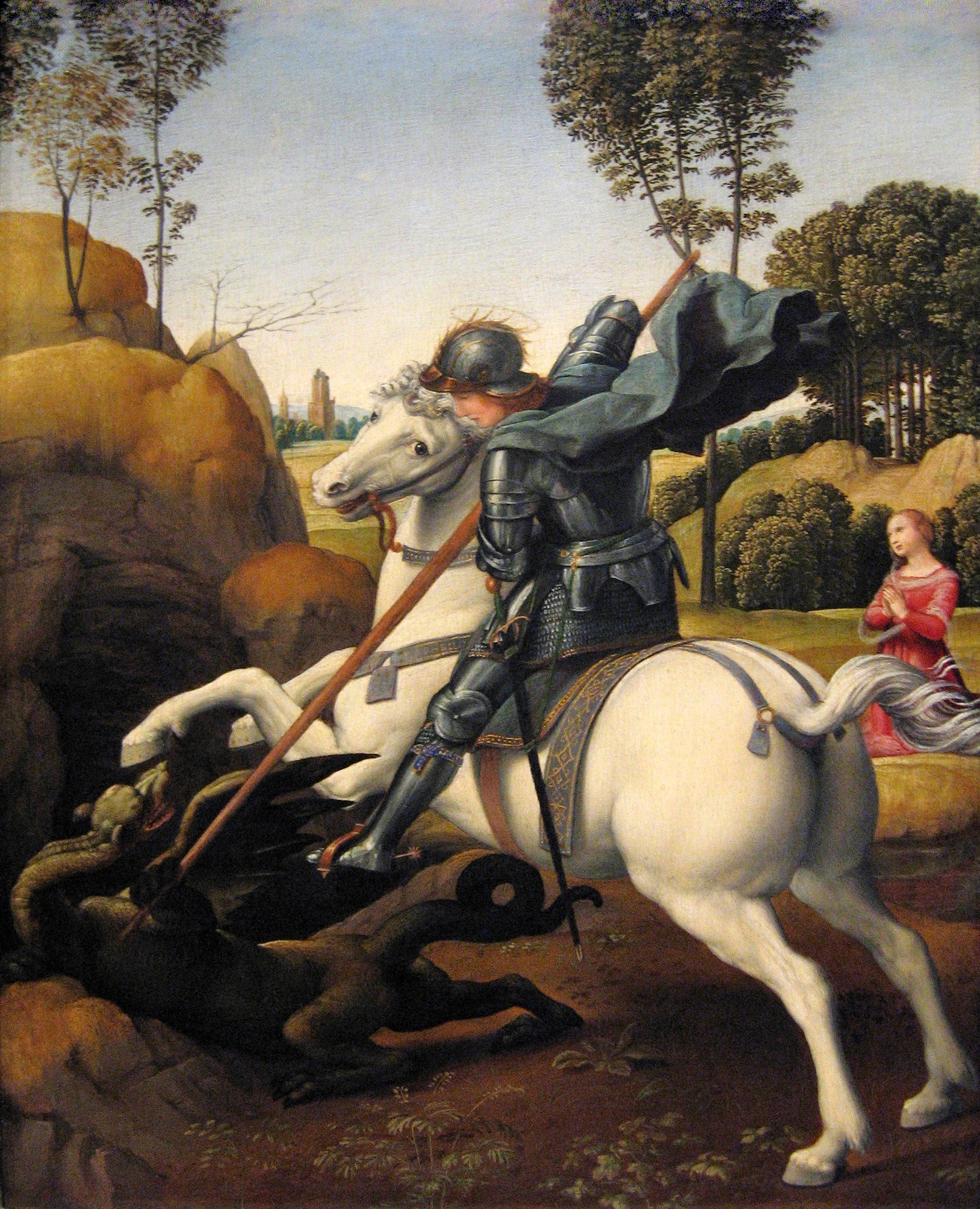 Raphael - Saint George and the Dragon