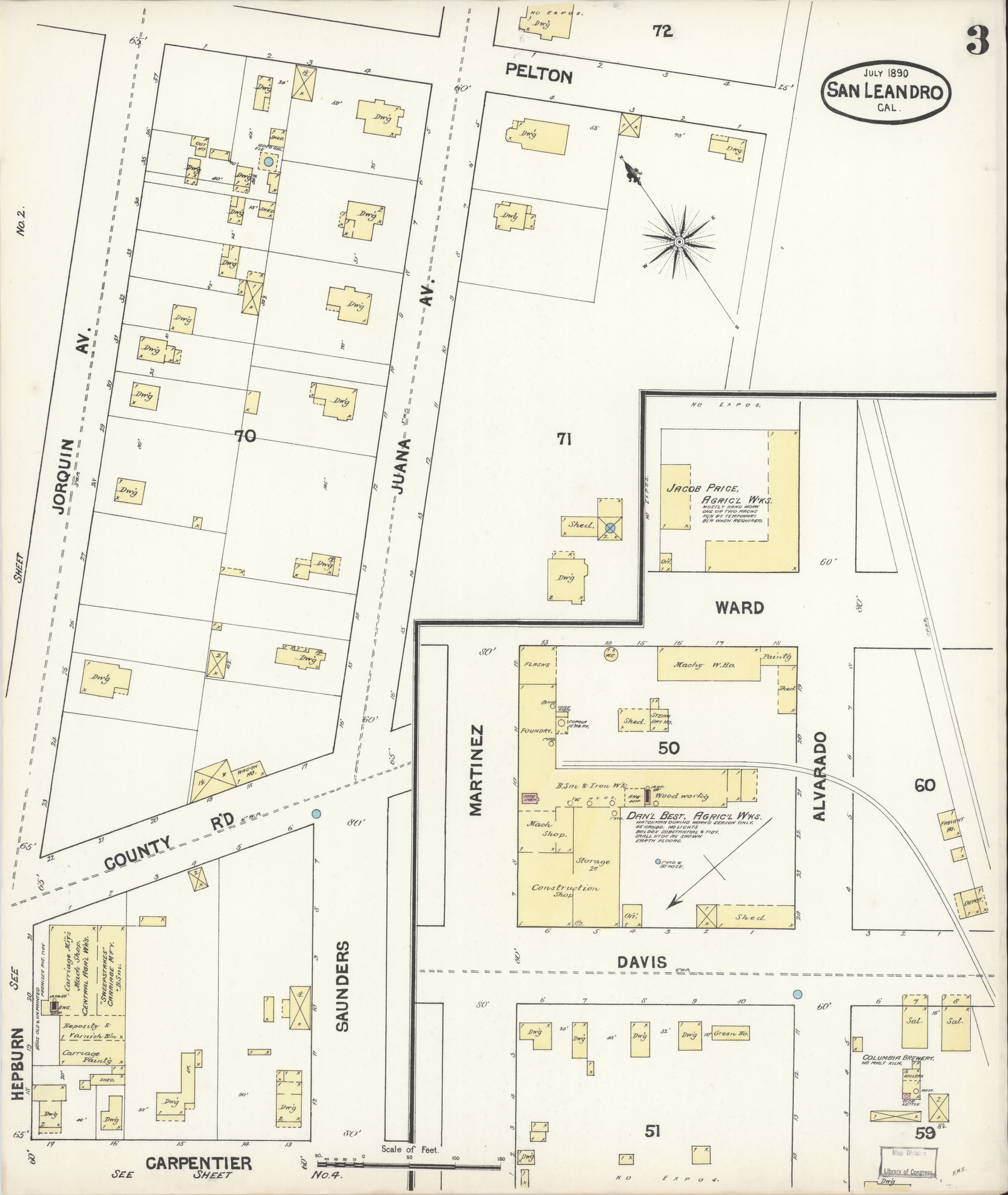 File:Sanborn Fire Insurance Map from San Leandro, Alameda