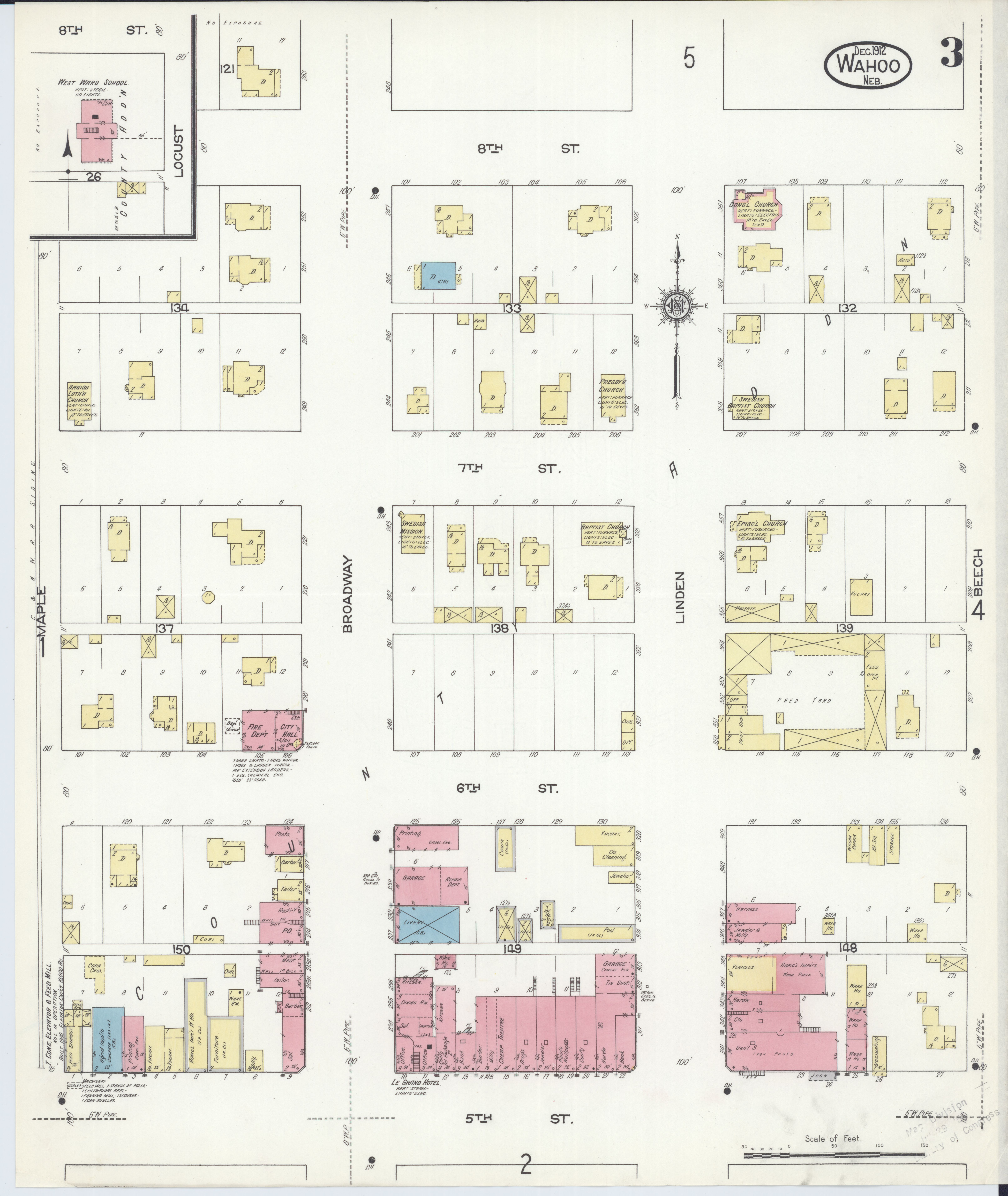 File Sanborn Fire Insurance Map From Wahoo Saunders County
