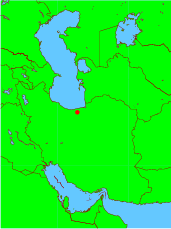 Location map of Sari