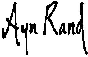 English: Ayn Rand's sign. Sicilianu: Signature...