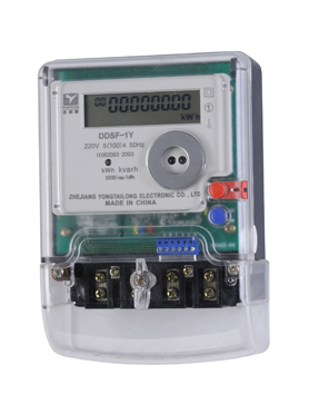 Single phase electricity meter.