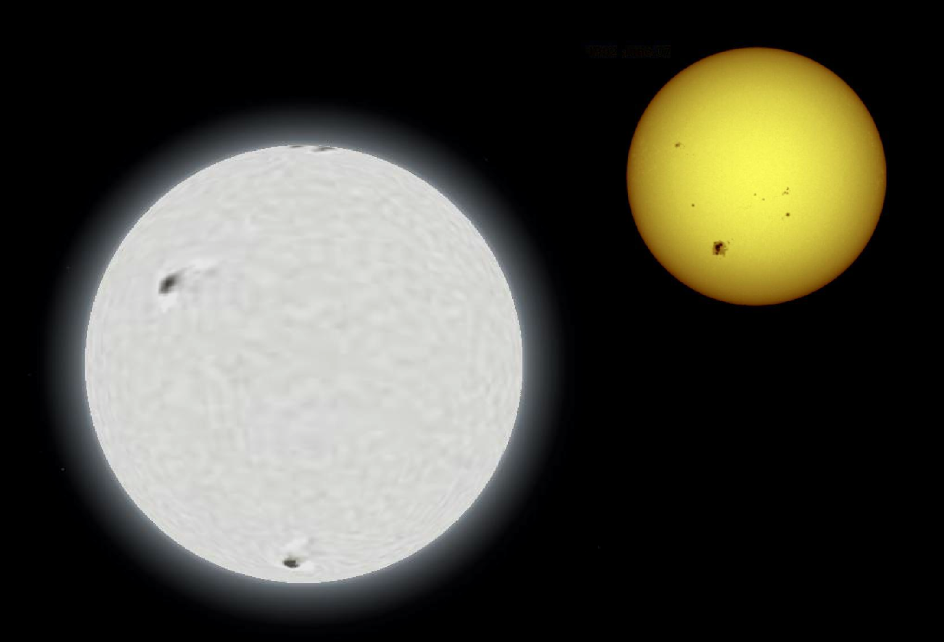 Sirius A and our Sun Comparison