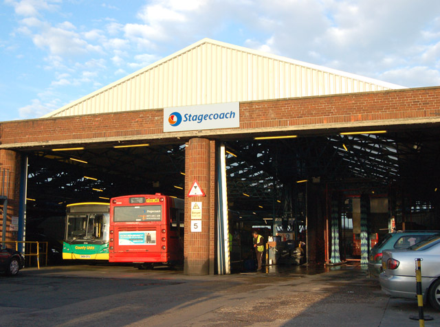 File Stagecoach Buses In Rugby Bus Depot Warwickshire 20