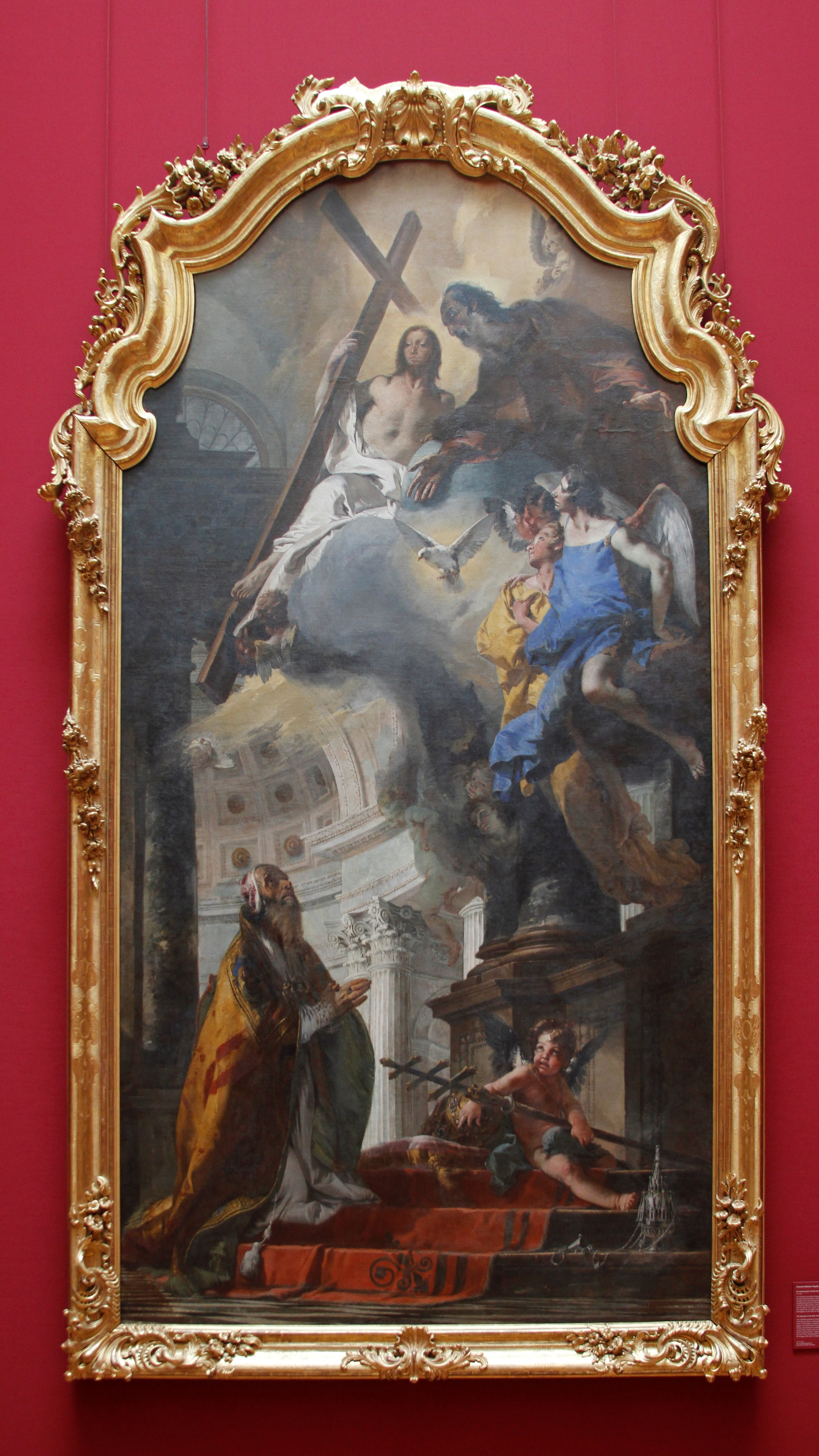 File:The Adoration of the Holy Trinity by Pope St. Clement by Giovanni  Batista