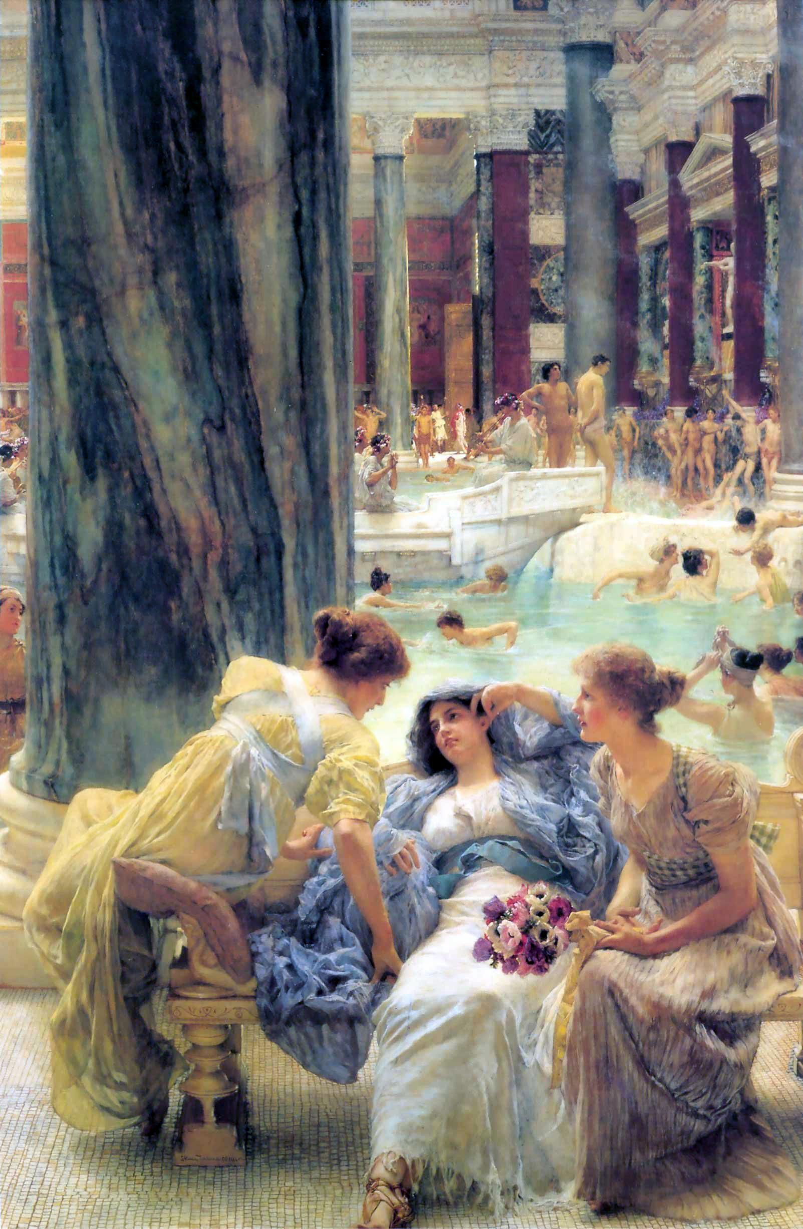 Lawrence Alma Tadema alma14 2 artista quadro riproduzione dipinto olio su tela